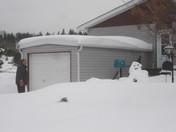 My husband Donat and his shoveling partner