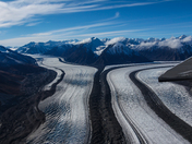 Above the Kluane National Park Glacier