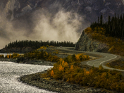 Fall along a Yukon Highway