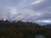 Sunrise over the Yukon Mountains
