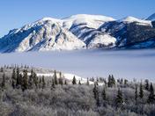 Fog over Windy Arm, Yukon
