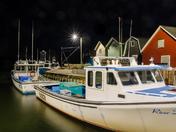Nighttime on the wharf.