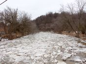 Humber River ice jam February downtown Bolton