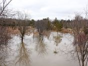 Flooding along the Humber River, Bolton, caused by ice jams