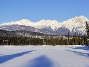 Twin Lakes in Winter