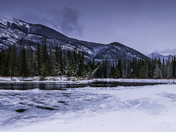 Panorama of Icy Bend Bow River