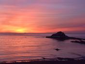 Sunrise over Bay of Fundy