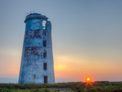 Sunrise at the old lighthouse of South-West-Point, Anticosti
