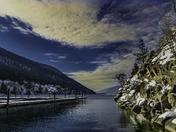 Rocky Point on Calm Okanagan Lake