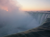 Sunrise above Niagara Falls in Winter