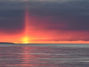 Sun Pillar over Bay of Fundy
