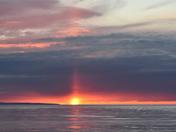 Sun Pillar at dawn