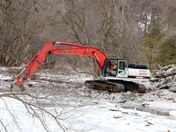 Handling an ice jam along the Humber River
