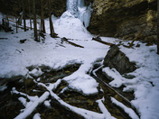 Frozen Waterfall at Winter's End