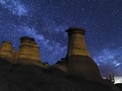Hoodoos Starry Night