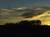 Prairie Sunset Silhouette