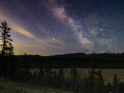 Wispy Clouds, Milky Way over Moose Mountain