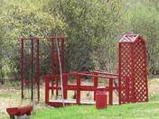 Red Bridge and Trellises