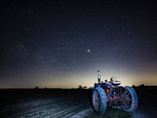 Tractor Under The Stars