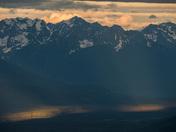 Light amongst mountains