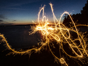 Sparklers By The Lake