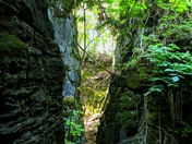 Escarpment crevasse