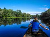 Keji In a Canoe
