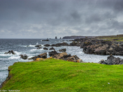 Beach near Bonavista  under dark clouds