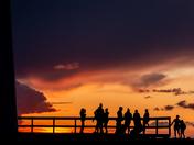 Sunset onlookers at L'étang-du-Nord