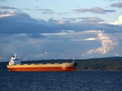 Freighter in the Salish Sea.