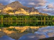 Morning Mountain Lake Reflection