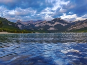 Mountains At Barrier Lake