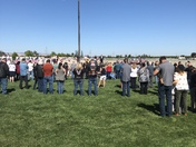 38 unclaimed Veterans and 2 spouses intermediate today at Sacramento National Cemetery Community came out to support.