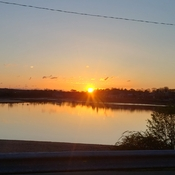sunrise over avon river