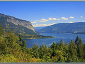 Bastion Mountain on Shuswap Lake, BC