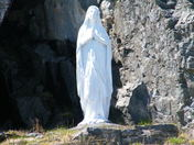 Statue of Mary in the Lady of Lourdes Grotto, Flatrock
