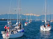 Swiftsure 2012 - Heading for the start.