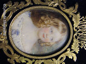 Girl with curls - Victorian Miniature