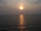 Water of Lake Erie viewed  from Pelee Island Ferry