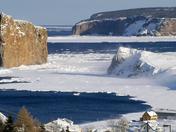 Perce, Quebec during winter