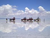 Salar de Uyuni caravan, Bolivia