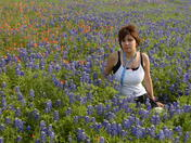 Kristin and wildflowers