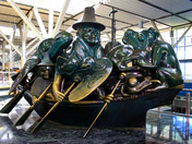 Giant Haida Spoapstone Carving at Vancouver Airport