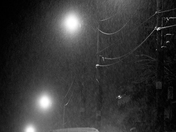 Winter Night B+W/Hespeler Ont.