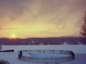 -27 C  Sunset over Lac Mercier (Mont Tremblant)