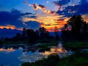 sunset in maple ridge bc,canada