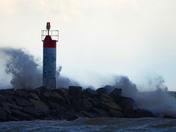Large Waves pound shoreline