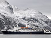 Our Ship, The Clipper Adventurer in a Fjord in Auyuittuq