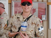 Enjoying an Iced Cap at Kandahar Airfield, Afghanistan. 01 Jul '11