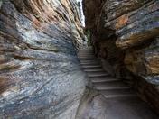 Stairs, Athabasca Falls, Jasper National Park, Alberta
